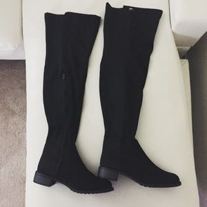 Over the knee OTK faux suede boots (Stretch back)